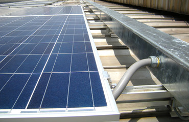 Flexible Conduit connected to Wireway Solar PV Rooftop