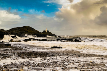 Stormy Mumbles Lighthouse