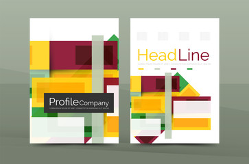 Straight lines geometric business report templates
