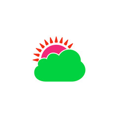 Cloudy Icon Vector