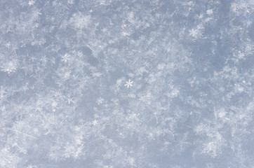 Snowflakes the eve of Christmas winter background