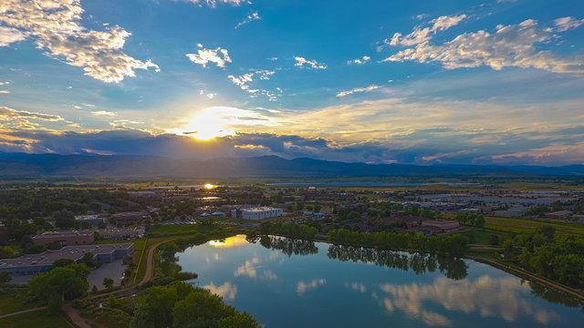 Sunset over Boulder, Colorado