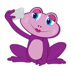 Purple Lady Frog selfie