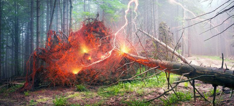 Thunder and lightning strike