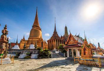 Wat Phra Si Rattana Satsadaram or Wat Phra Kaew or Temple of the Emerald Buddha in Bangkok of Thailand