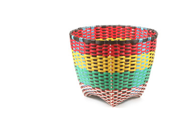 Baskets made from plastic, containers made from plastic for the