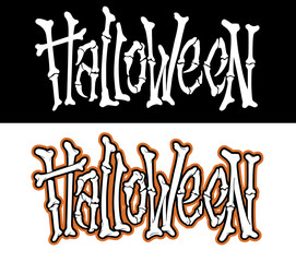 Hand drawn halloween lettering