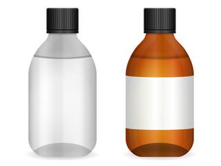 Glass medical bottle set