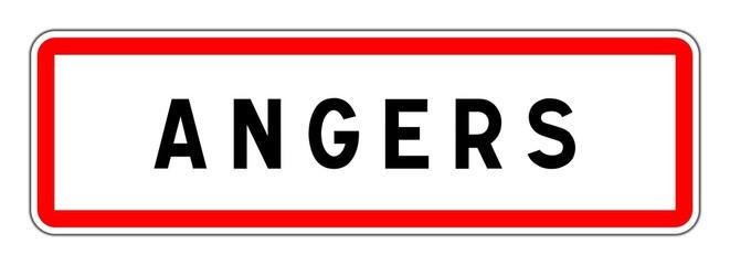 ANGERS panneau entrée agglomération