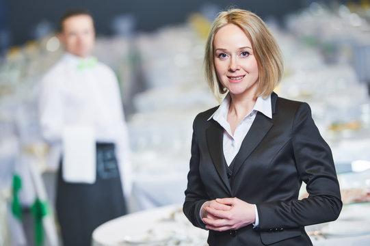 Catering service. Restaurant manager portrait