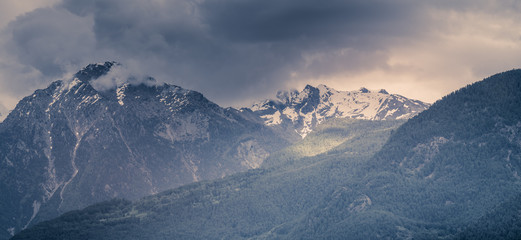 mountain scenery, mountains of Valle d'Aosta, Italian Alps