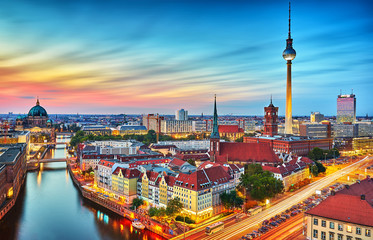 Photo sur Aluminium Berlin Berlin Skyline