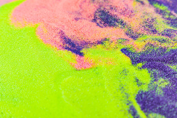 Colorful sand as the background, Multi colored sand