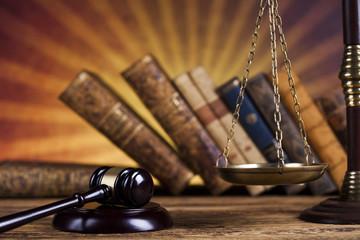 Judge gavel,Law concept, wooden desk background