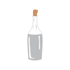 Vector image. Vodka, moonshine in the bottle