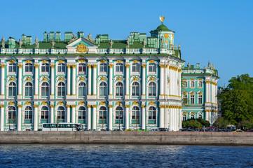 Hermitage across Neva river, St Petersburg, Russia