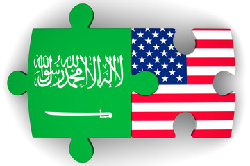 The cooperation of the Saudi Arabia and the United States of America. Concept