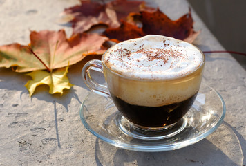 cappuccino cup background