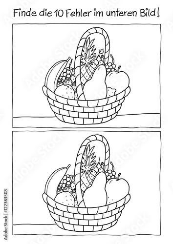 obstkorb zum ausmalen