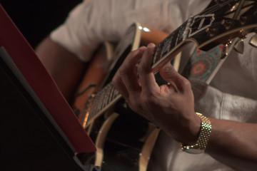 Guitarrista en concierto