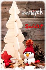 Frohe Weihnachten in polnisch