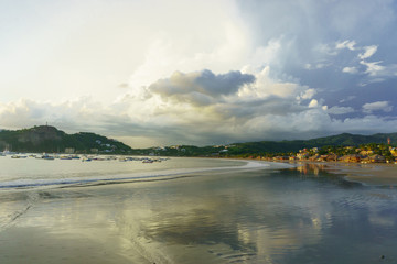 san juan del sur beach during sunset