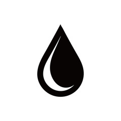 Drop icon, vector illustration. Flat design style