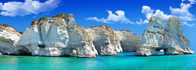 travel in greek islands - Milos, Cyclades, Kleftiko bay
