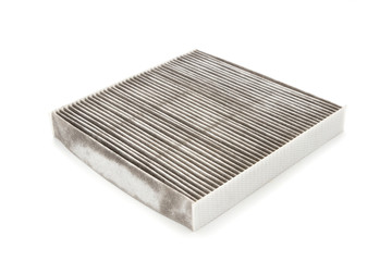 Car air filter isolated on white background
