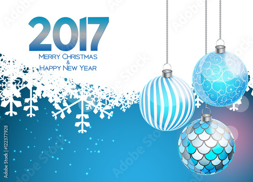 abstract beauty christmas and 2017 new year background vector i