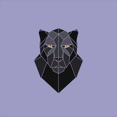Black panther head. Vector illustration.
