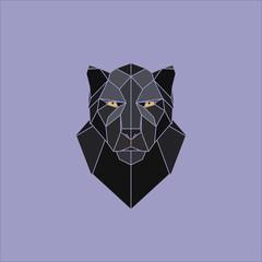 Black panther head. Vector illustration.