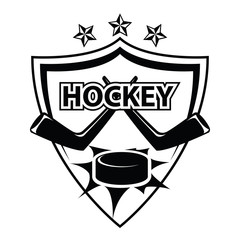 Ice hockey logo, badge, label and design elements. vector on iso