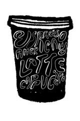 Black Coffee cup illustration