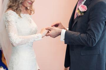 puttting on a wedding ring