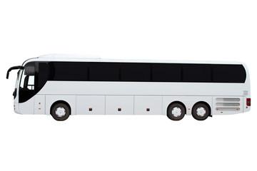 Modern three-axle bus.
