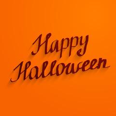 Happy Halloween lettering banner desig