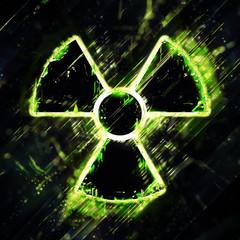 Abstract radiation hazard sign
