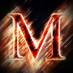 Red light letter M