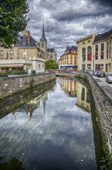 Riverfront Eaton in the French city of Evreux in Normandie