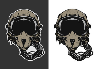 Fighter Pilot Helmet.