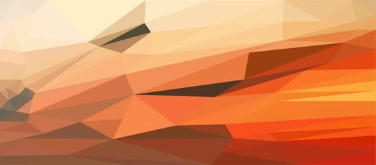 Low Poly abstract evening sky