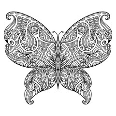 Vector abstract butterfly.