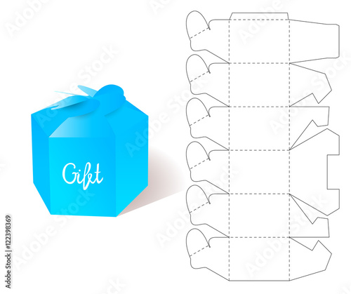 Box gift paper box blueprint template illustration of gift craft box gift paper box blueprint template illustration of gift craft box for design maxwellsz