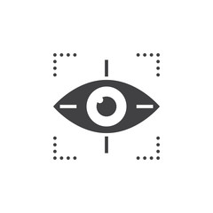 Target symbol icon vector, eye tracking solid logo illustration, pictogram isolated on white