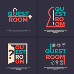 The logo for the quest room.