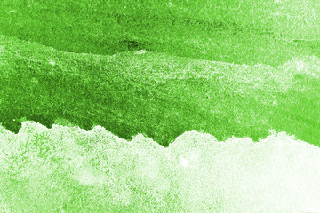 Green watercolor background for backgrounds or textures