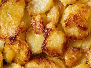 rustic golden german pan fried potato bratkartofflen food backgr