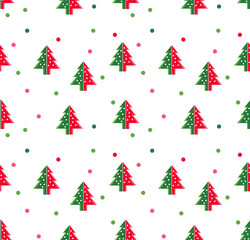 simple Christmas trees symbol for new year greeting card presentation. Vector Illustration.