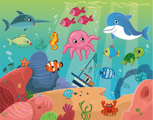 Sea Life (Vector illustration)